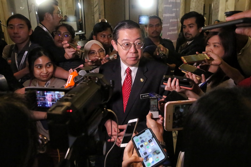 Finance Minister Lim Guan Eng told the assembly that he met and agreed with a ratepayer recently who complained that the increase was excessive.— Picture by Choo Choy May