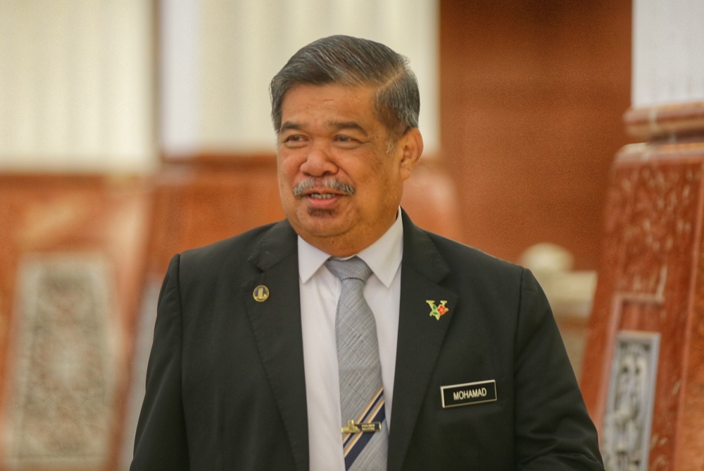 Defence Minister Mohamad Sabu is pictured at the Parliament lobby October 15, 2019. — Picture by Ahmad Zamzahuri