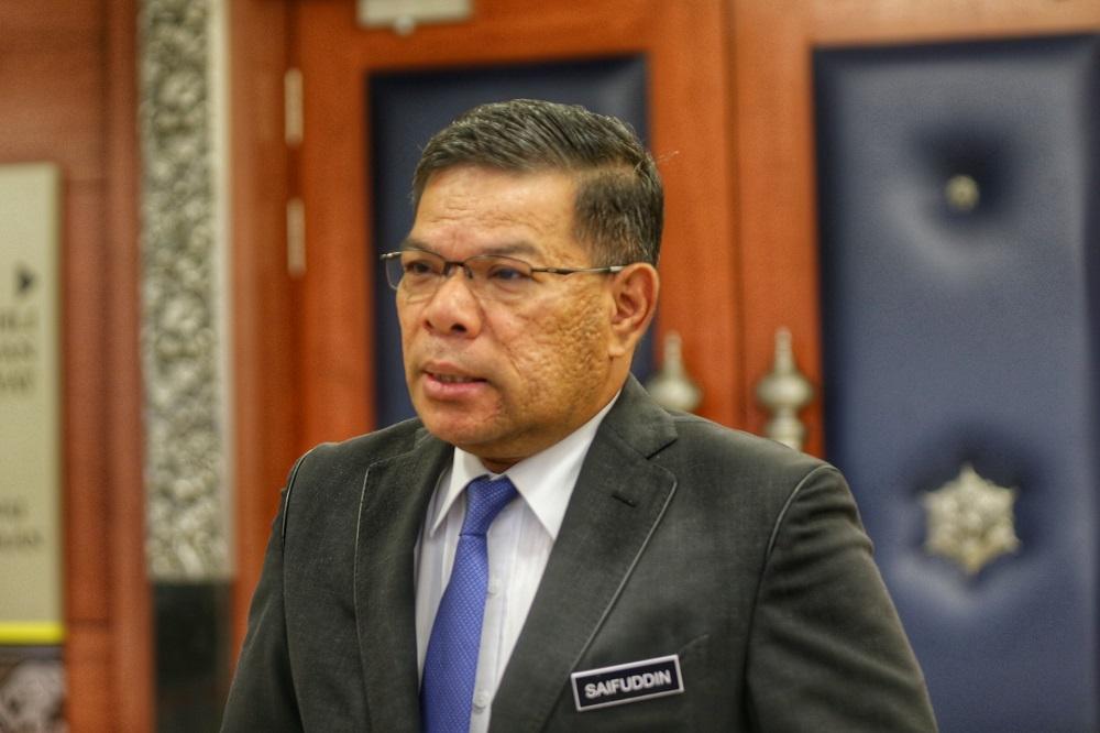 Datuk Seri Saifuddin Nasution is pictured at the Parliament lobby October 15,2019. — Picture by Ahmad Zamzahuri