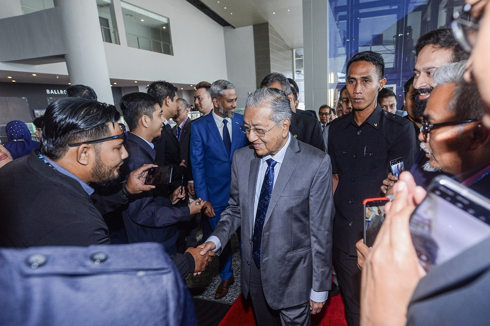 Prime Minister Tun Dr Mahathir Mohamad continues to be the centre of global attention after returning to power with a new political coalition last year. — Picture by Hari Anggara