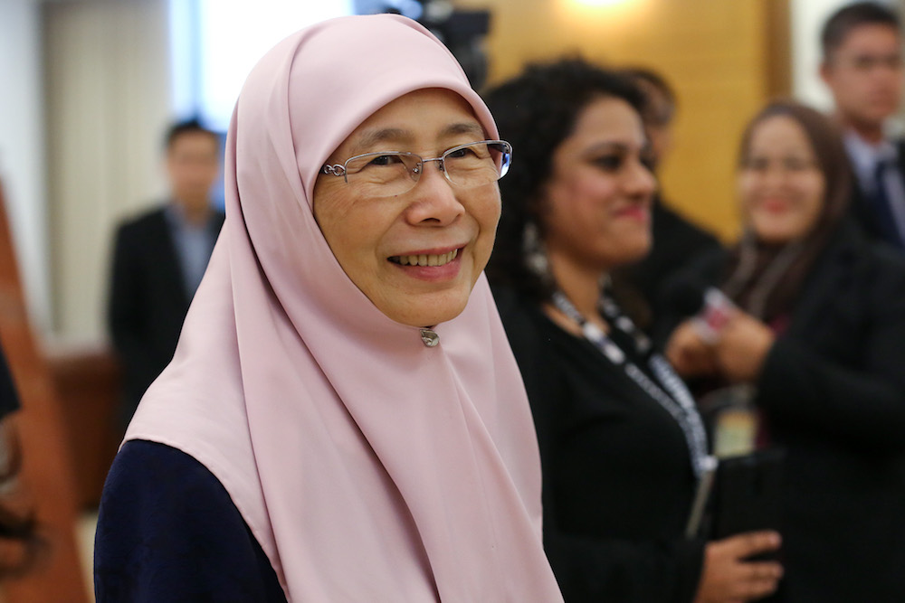 Deputy Prime Minister Datuk Seri Dr Wan Azizah Wan Ismail is pictured in Parliament October 21, 2019. — Picture by Yusof Mat Isa