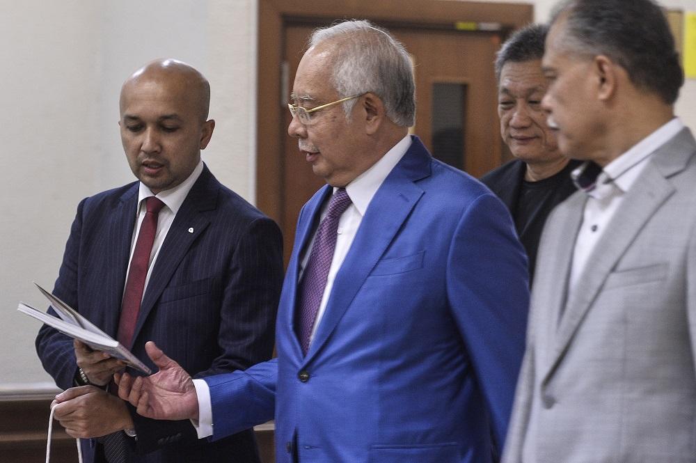 Datuk Seri Najib Razak at the Kuala Lumpur High Court October 22,2019. — Picture by Miera Zulyana