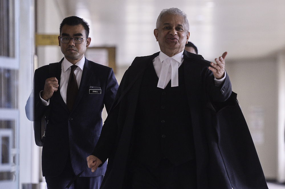 Attorney General of Malaysia Tan Sri Tommy Thomas is seen during SRC Trial at Kuala Lumpur High Court October 22,2019. — Picture by Miera Zulyana