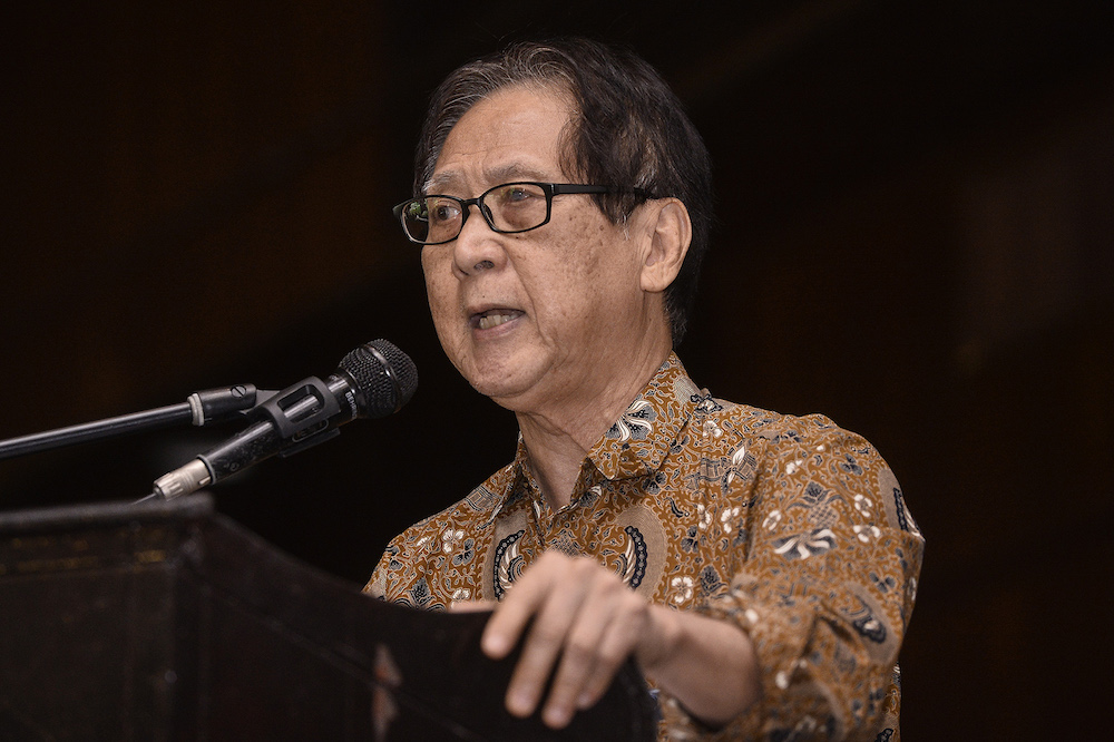 Lim came under fire from Anwar during a public forum yesterday for saying the 17-month PH administration has been 'disastrous'. — Picture by Miera Zulyana