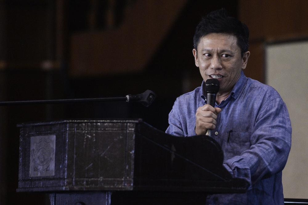 Datuk Seri Ti Lian Ker speaks during 'Perdana Forum: Whither Maruah Malaysia 2.0' in Kuala Lumpur October 25, 2019. — Picture by Miera Zulyana