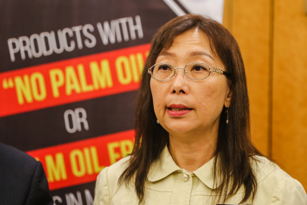 Primary Industries Minister Teresa Kok speaks during a press conference at Parliament in Kuala Lumpur October 31, 2019. Picture by Firdaus Latif