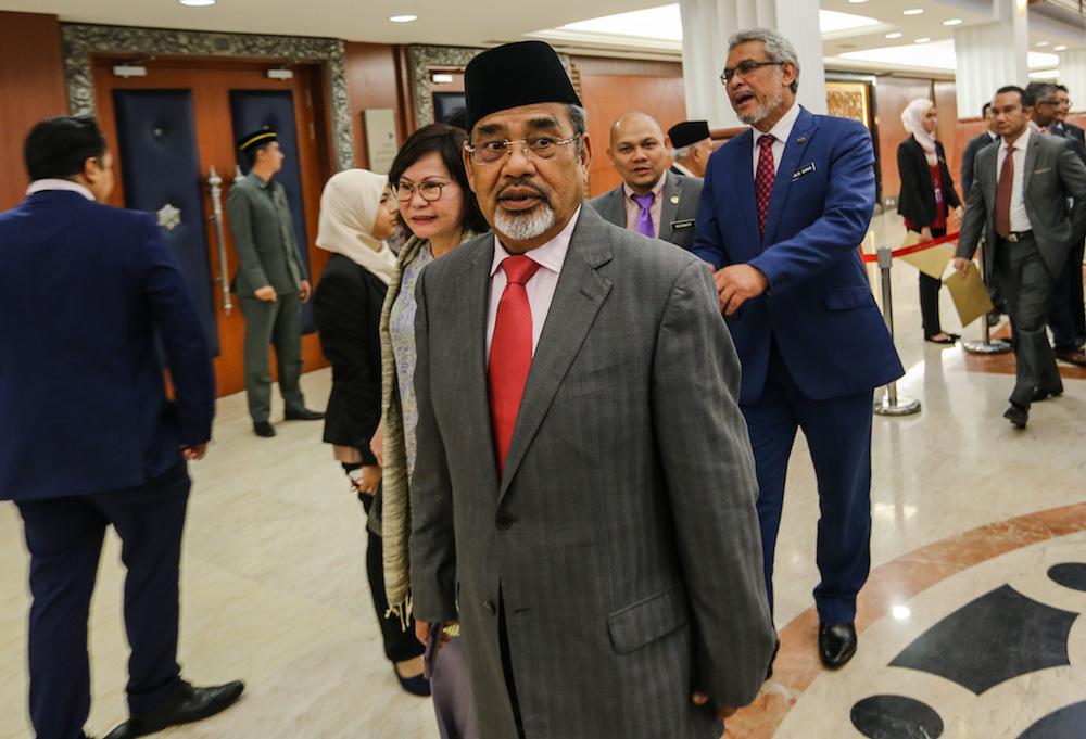 Pasir Salak MP Datuk Seri Tajuddin Abdul Rahman is pictured in Parliament October 31, 2019. — Picture by Firdaus Latif