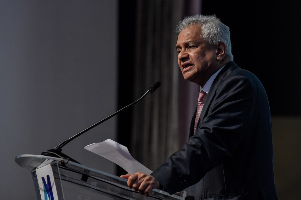 Attorney General Tan Sri Tommy Thomas delivering his closing remarks titled 'Resetting the Trust Compass: It Starts With You' at the International Directors Summit in Kuala Lumpur October 15, 2019. — Bernama pic