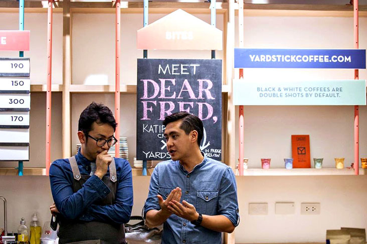 Two coffee industry veterans, Andre Chanco (left) and Leon Foo (right), founded MORNING