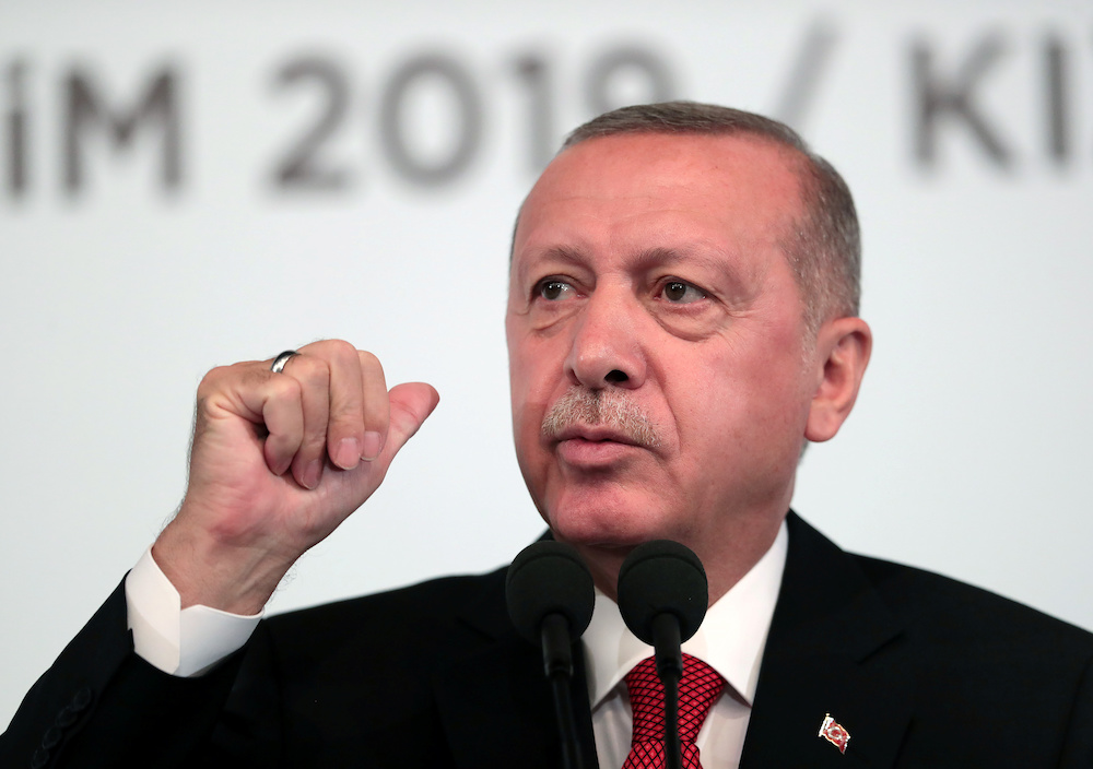 President Tayyip Erdogan said Turkey will not stop its operation against the Kurdish militia 'no matter what anyone says.' ― Reuters pic
