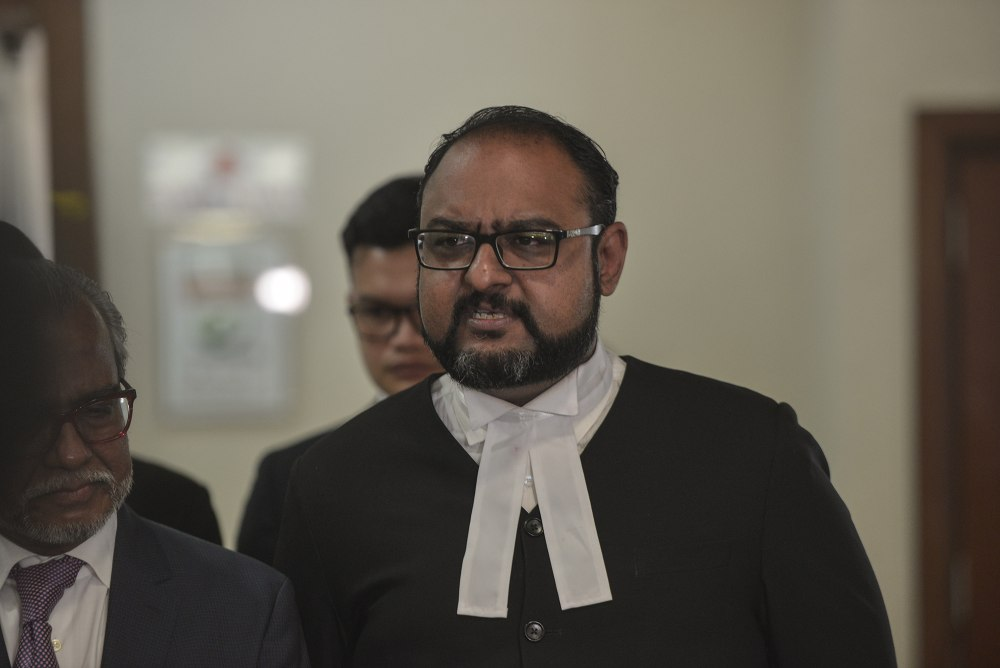 Defence lawyer Harvinderjit Singh says Datuk Seri Najib Razak's alleged spending of RM42 million of SRC International Sdn Bhd does not constitute criminal breach of trust (CBT). ― Picture by Shafwan Zaidon