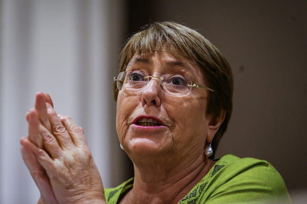 UN High Commissioner for Human Rights, Michelle Bachelet, speaks during a press conference in Kuala Lumpur October 5, 2019. — Picture by Hari Anggara