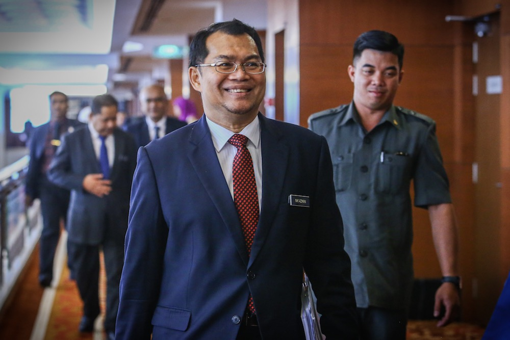 The National Audit Department confirmed that auditor-general Datuk Nik Azman Nik Abdul Majid (pic) has been tested positive for Covid-19. — File picture by Hari Anggara