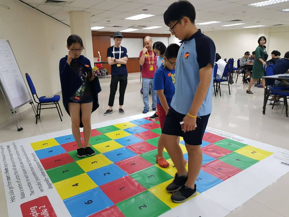Youths are guided by Mensa members as they take part in problem-solving activities during the Inaugral Mensa International Youth Festival. — Picture courtesy of Malaysian Mensa Society