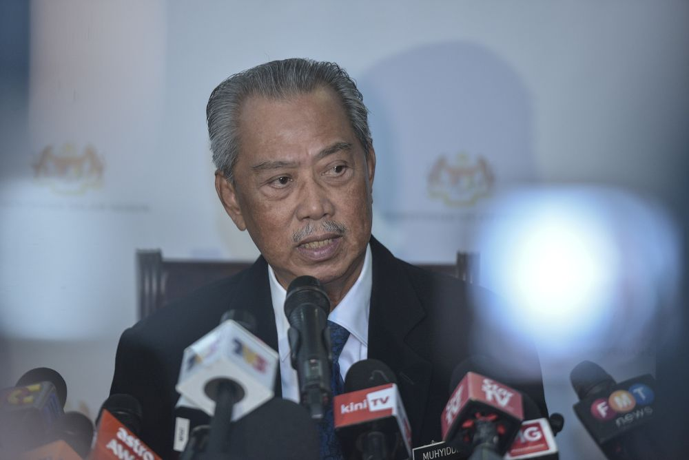 Home Minister Tan Sri Muhyiddin Yassin said it was not true that Yazid will be freed following the expiry of his Prevention of Terrorism Act (Pota) 2015 detention order. — Picture by Shafwan Zaidon