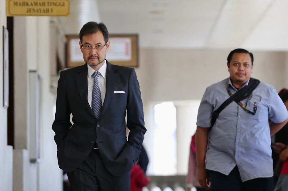 Former 1MDB CEO Datuk Shahrol Azral Ibrahim Halmi is pictured at the Kuala Lumpur High Court October 29, 2019. — Picture by Ahmad Zamzahuri