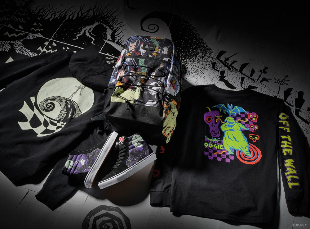 Vans and Disney have teamed up for a collection of 'Nightmare Before Christmas'-themed shoes and apparel. ― Picture courtesy of Vans x Disney