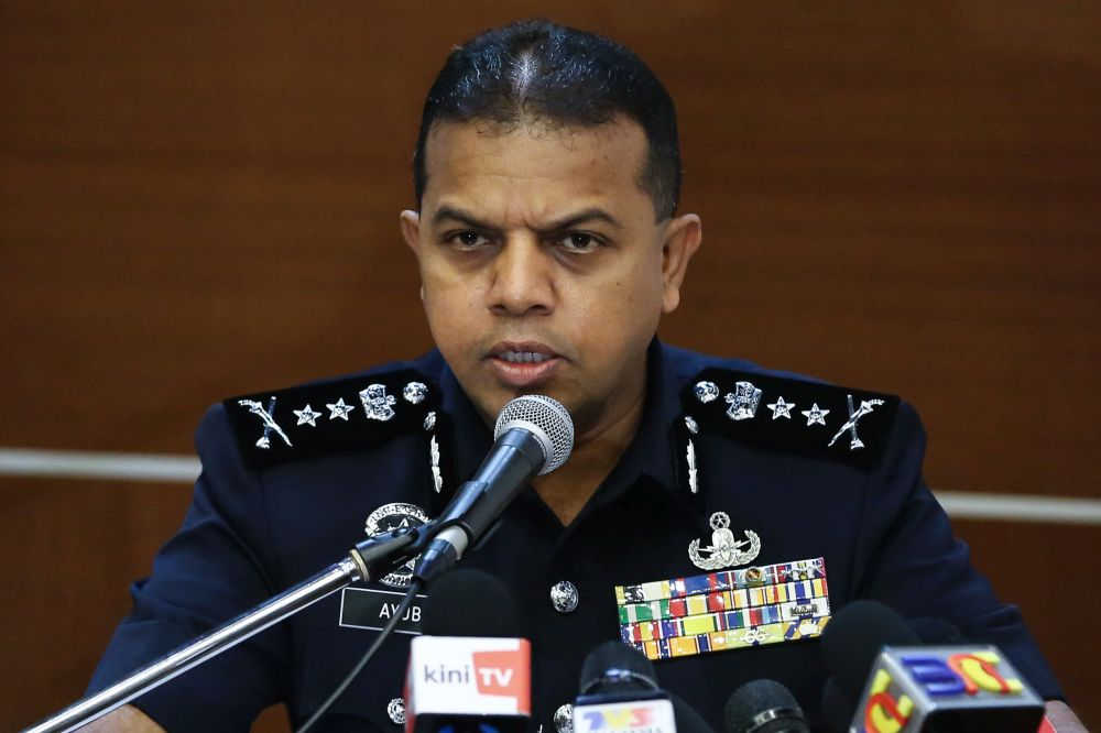 Principal assistant director of the Counter-Terrorism Division (E8) of the Special Branch Datuk Ayob Khan Mydin Pitchay speaks during a press conference at Bukit Aman in Kuala Lumpur October 13, 2019. — Picture by Yusof Mat Isa