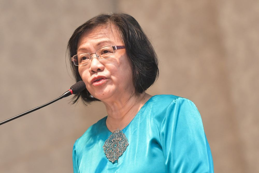 Petaling Jaya MP Maria Chin Abdullah today lashed out at the ruling Perikatan Nasional bloc, accusing it of abusing its power to crack down on dissent. ― Picture by Miera Zulyana