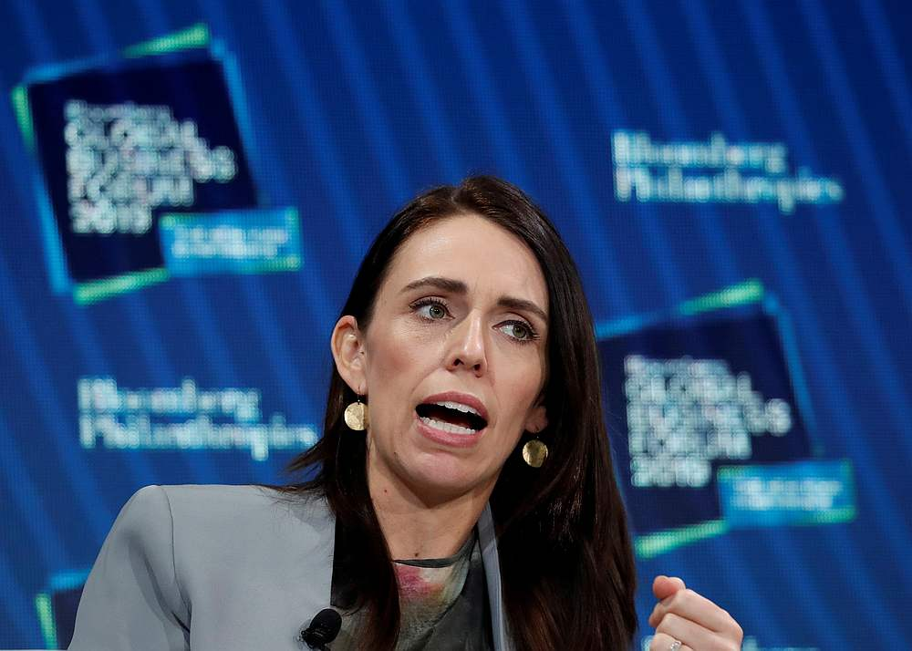 Prime Minister of New Zealand Jacinda Ardern speaks during the Bloomberg Global Business Forum in New York September 25, 2019. — Reuters pic