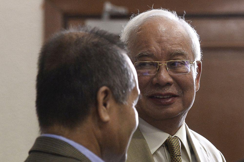 Datuk Seri Najib Razak is pictured at the Kuala Lumpur High Court October 1, 2019. — Picture by Miera Zulyana