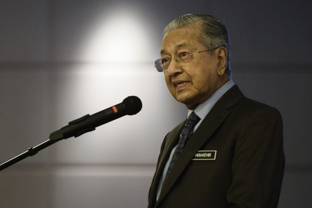 Prime Minister Tun Dr Mahathir Mohamad said the damage was not just financial but institutional as well. — Picture by Miera Zulyana