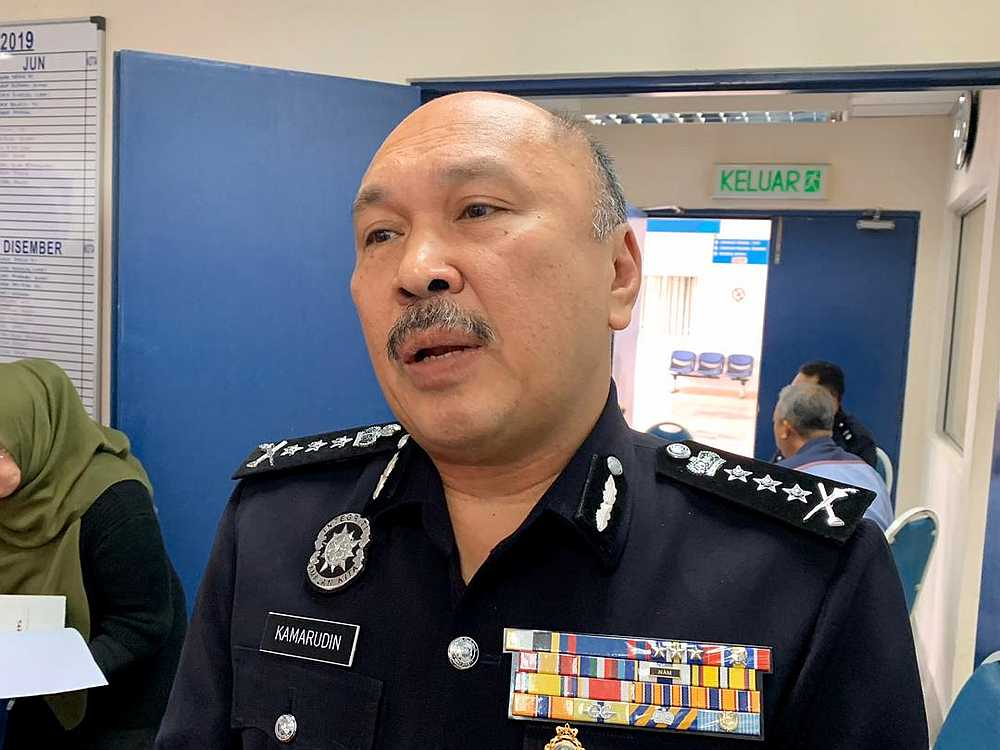 Johor police chief Datuk Mohd Kamarudin Md Din says there were no incidents in Johor involving LTTE and any information is considered secret. — Picture by Ben Tan