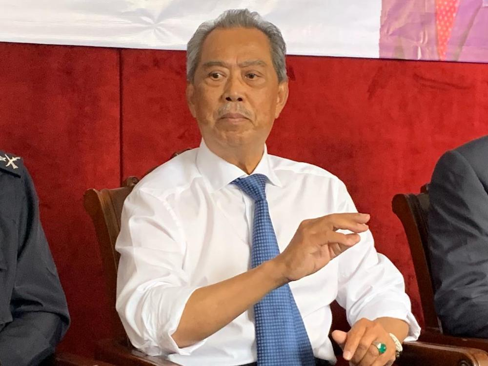 Home Minister Tan Sri Muhyiddin Yassin said the authorities will conduct an in-depth investigation into the distribution of a comic book to educational institutions including schools. — Picture by Ben Tan