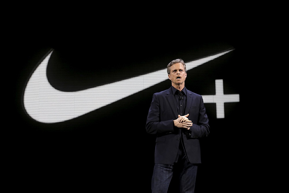 Nike CEO Mark Parker speaks during a launch event in New York March 16, 2016.  — Reuters pic