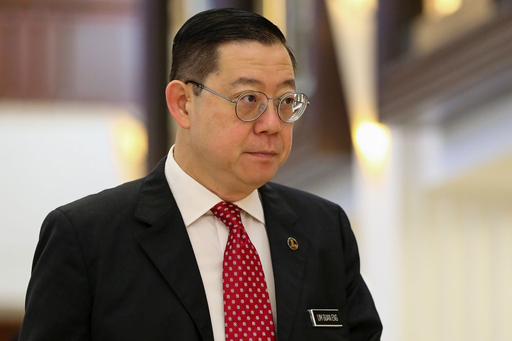 Finance Minister Lim Guan Eng is pictured at Parliament in Kuala Lumpur October 30, 2019. — Picture by Yusof Mat Isa