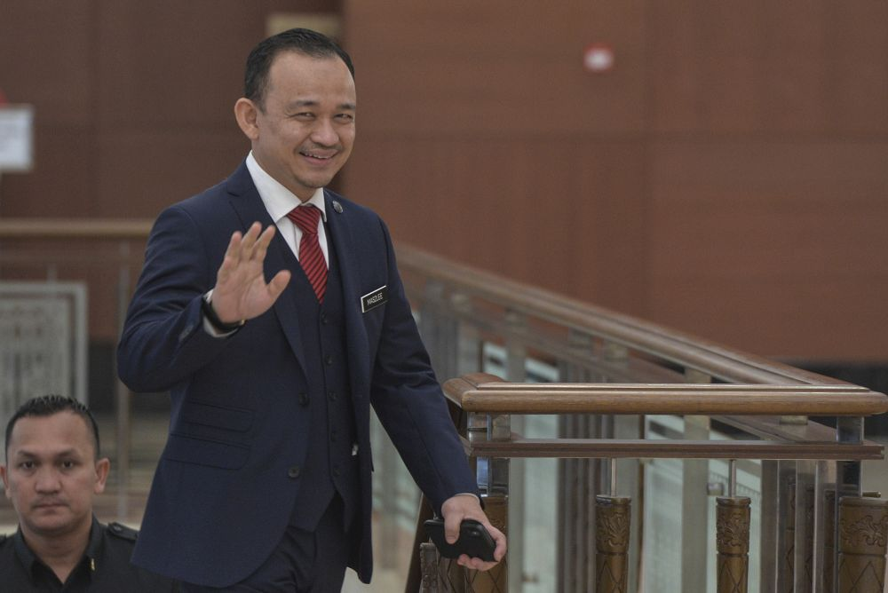 Education Minister Maszlee Malik arrives at Parliament in Kuala Lumpur October 29, 2019. — Picture by Shafwan Zaidon