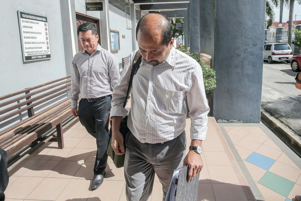 Sapura Fabrication Sdn Bhd's head of fabrication Emha Entariksa pleaded guilty to negligence in the accidental death of a worker at the Ipoh Sessions Court October 17, 2019. — Picture by Farhan Najib