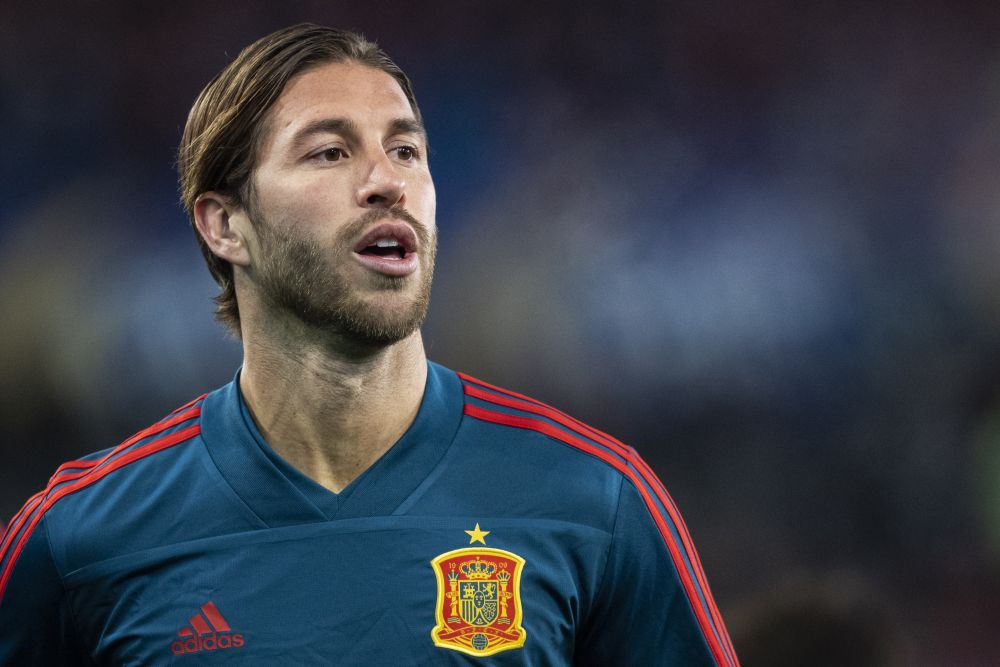 Sergio Ramos of Spain during warm up ahead of the Uefa Euro Qualifier football match between Norway and Spain on October 12, 2019 in Oslo. — Reuters pic