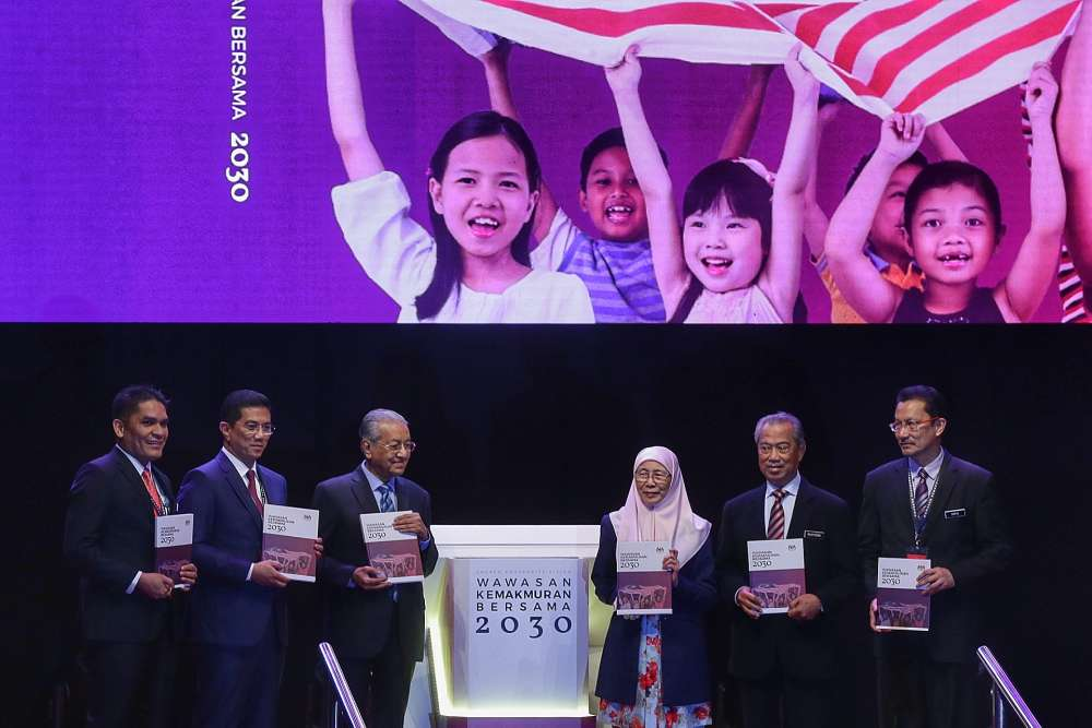 Prime Minister Tun Dr Mahathir Mohamad officiates the new Shared Prosperity Vision 2030 in Kuala Lumpur October 5, 2019. ― Picture by Ahmad Zamzahuri