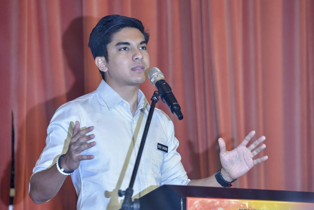 Youth and Sports Minister Syed Saddiq Syed Abdul Rahman speaks during the launch of SKIL'19 skill symposium in Putrajaya October 24, 2019. ― Picture by Shafwan Zaidon
