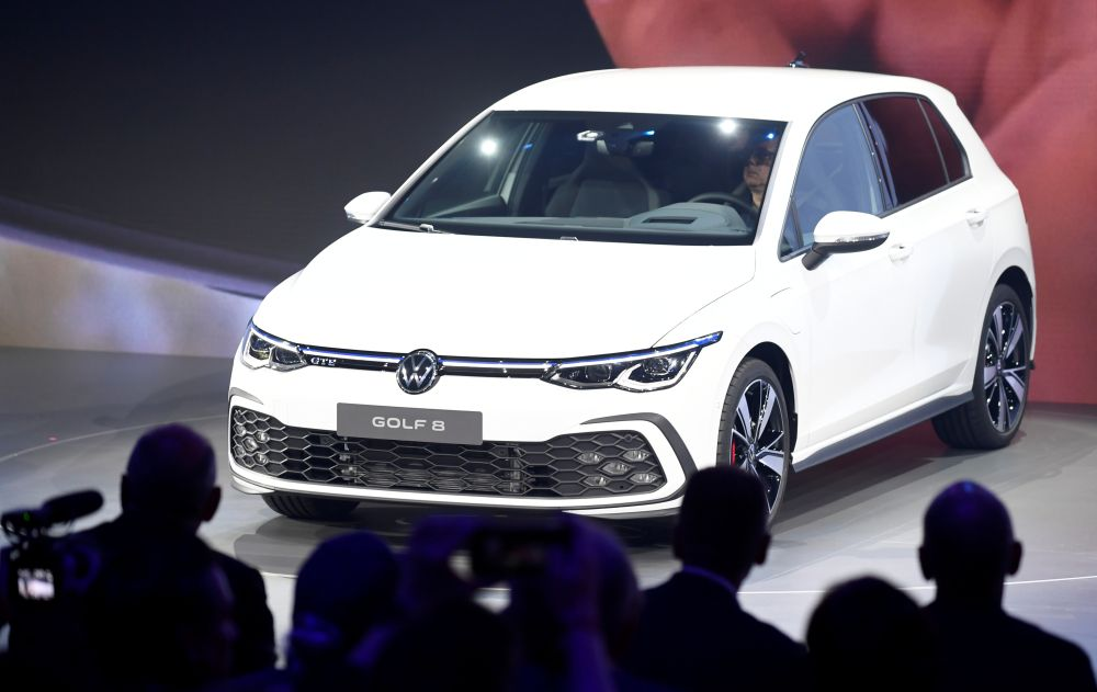 The new Volkswagen Golf 8 car is presented at the Volkswagen plant in Wolfsburg October 24, 2019. — Reuters pic
