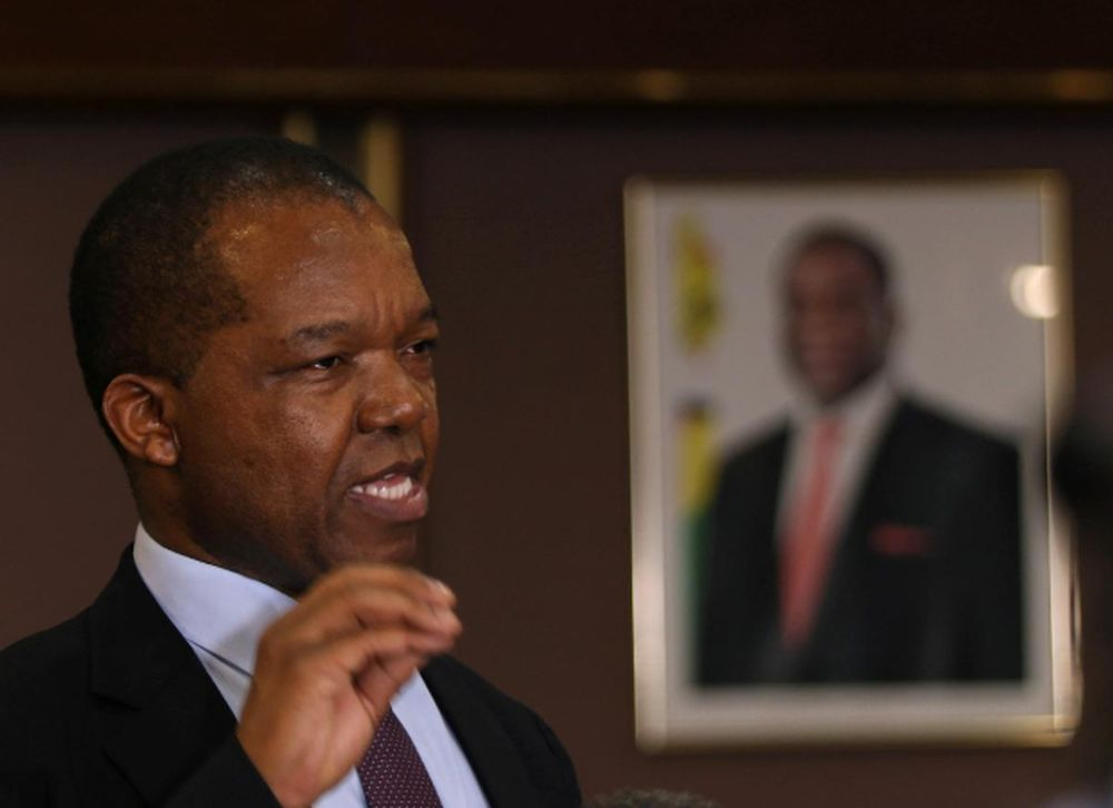 File picture shows Reserve Bank of Zimbabwe (RBZ) Governor John Mangudya gesturing as he delivers his 2018 Monetary Policy Statement in Harare, Zimbabwe February 7, 2018. — Reuters pic