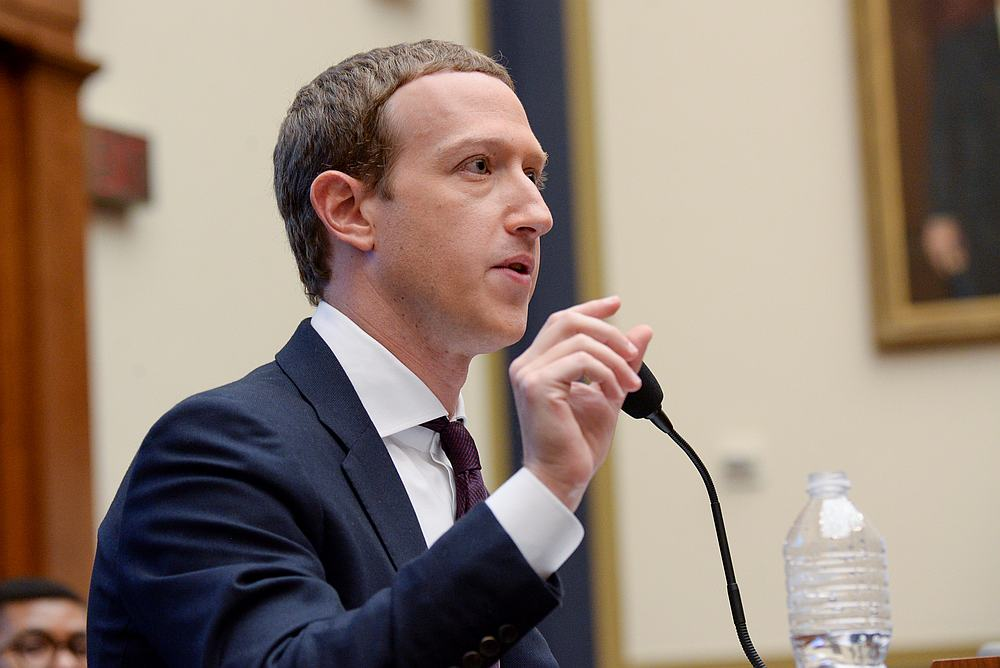 Facebook CEO Mark Zuckerberg testifies at a House Financial Services Committee hearing in Washington October 23, 2019. — Reuters pic