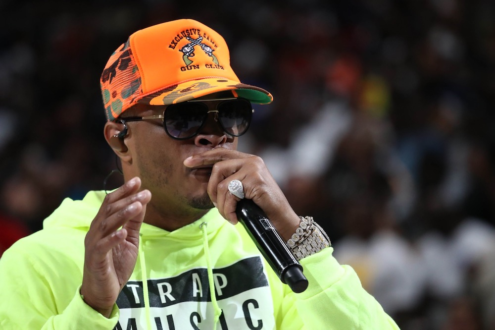 Rapper T.I. performs during week nine of the BIG3 three on three basketball league at American Airlines Centre in Dallas August 17, 2019. — Ronald Martinez/BIG3 handout via Getty Images/AFP