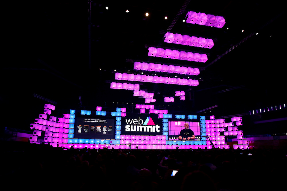 General view of the central stage of the Web Summit, in Lisbon November 6, 2019. — Reuters pic