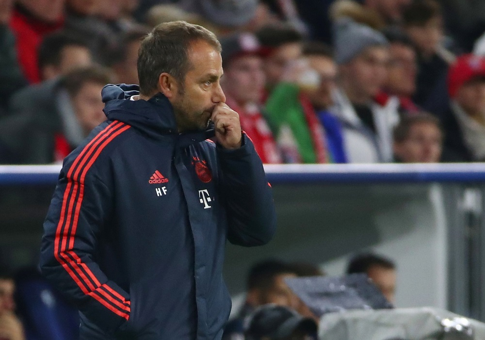 Bayern Munich interim coach Hansi Flick during the match against Olympiacos at the Allianz Arena in Munich November 6, 2019. — Reuters pic
