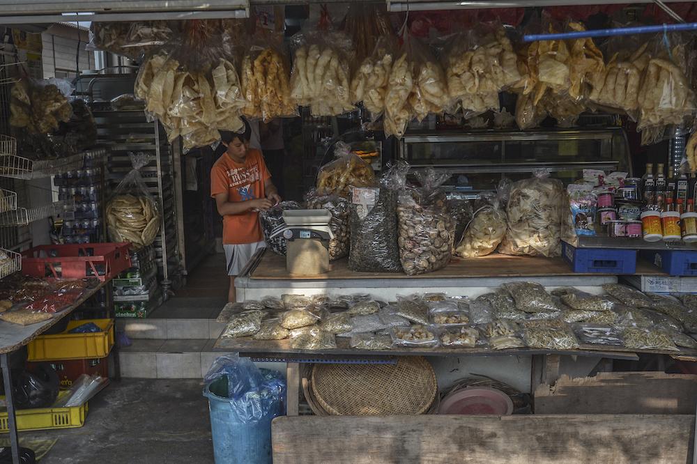 A sundry shop at Kampung Air Masin in Kukup November 3, 2019. — Picture by Shafwan Zaidon