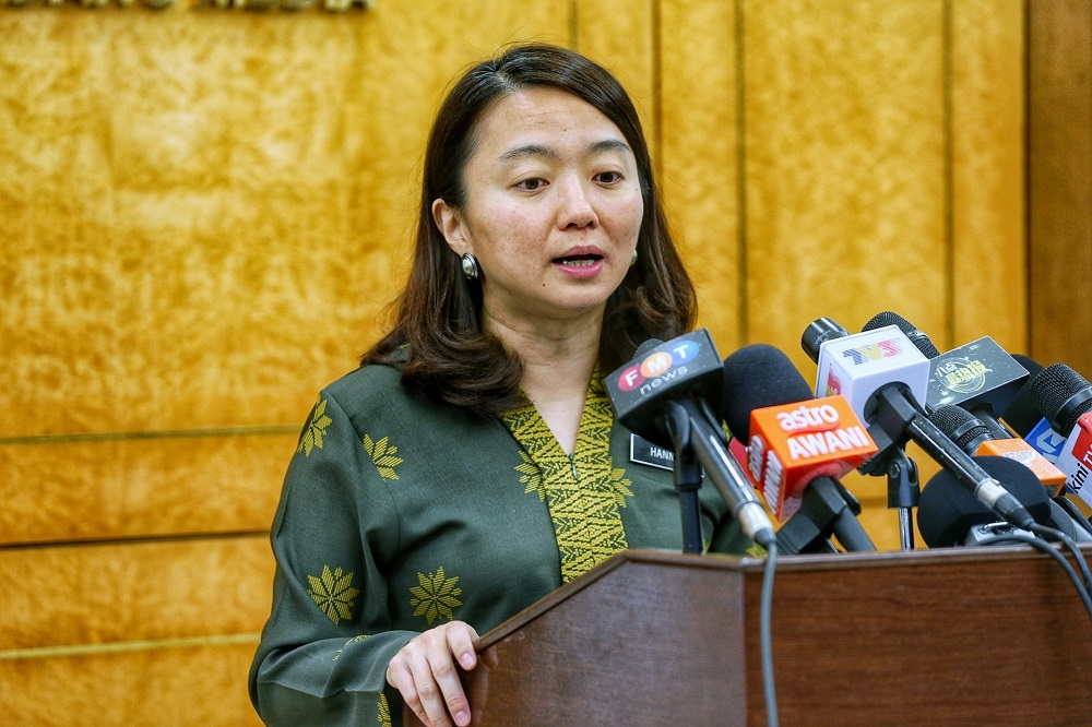 Hannah Yeoh told the Lower House that as of June, 340 abuse cases were reported to the Welfare Department, 316 of which involved women victims and the rest, men. — Picture by Ahmad Zamzahuri
