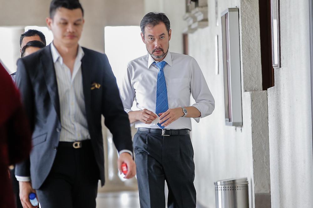 Former 1MDB chief executive officer Datuk Shahrol Azral Ibrahim Halmi is seen at Kuala Lumpur Court Complex during the 1MDB trial November 7, 2019. — Picture by Hari Anggara