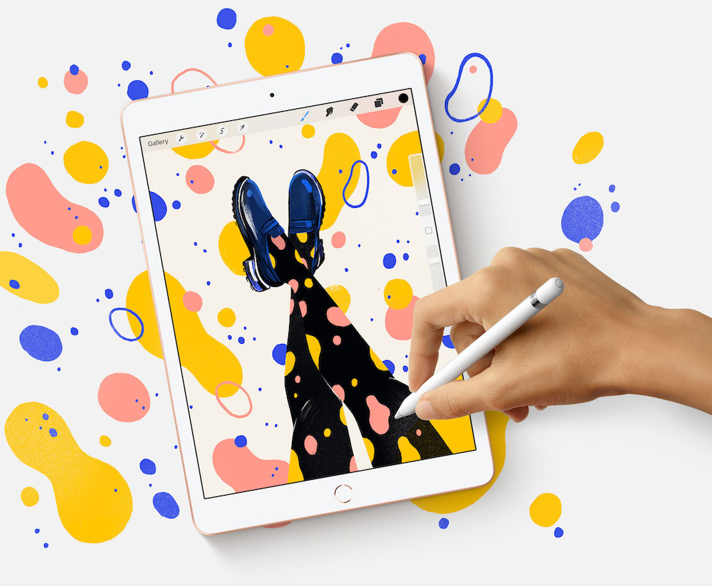 One draw of the new iPad is its support of the Apple Pencil making it an intriguing alternative to a dedicated tablet. — Picture courtesy of Apple