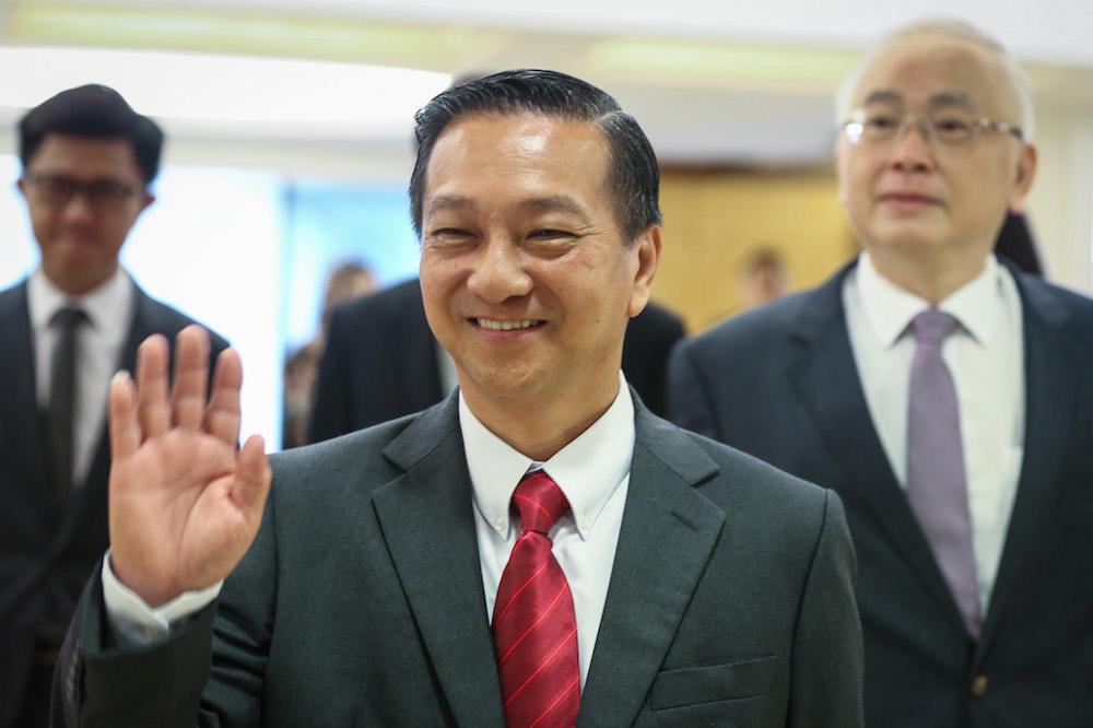 Tanjung Piai MP Datuk Seri Wee Jeck Seng after being sworn in as a member of the Dewan Rakyat in Kuala Lumpur November 18, 2019. — Picture by Yusof Mat Isa