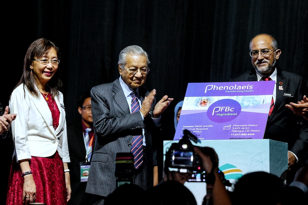 Prime Minister Tun Dr Mahathir Mohamad officiates the MPOB International Palm Oil Congress and Exhibition 2019 in Kuala Lumpur November 19, 2019. — Picture by Ahmad Zamzahuri