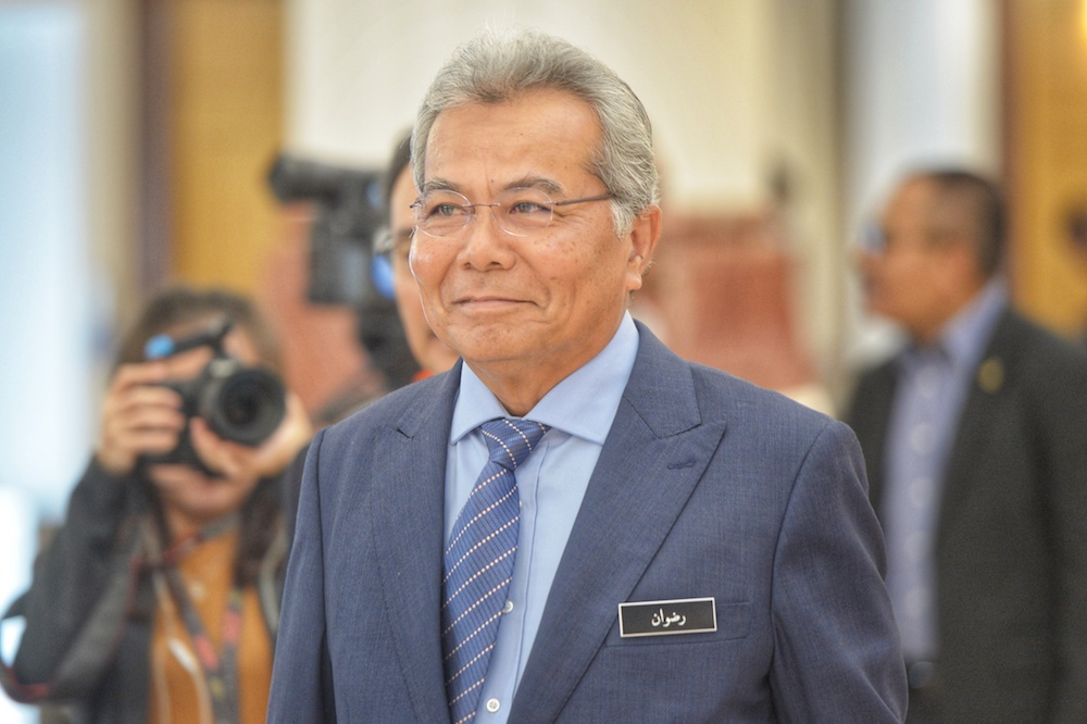 Minister in the Prime Minister's Department (Special Functions) Datuk Seri Mohd Redzuan Yusof said the structure for the proposed programme was being finalised and would be tabled to the Cabinet soon. — Picture by Shafwan Zaidon