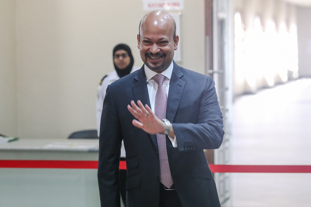 Former 1MDB CEO Arul Kanda Kandasamy is pictured at the Kuala Lumpur Courts Complex November 21, 2019. — Picture by Firdaus Latif