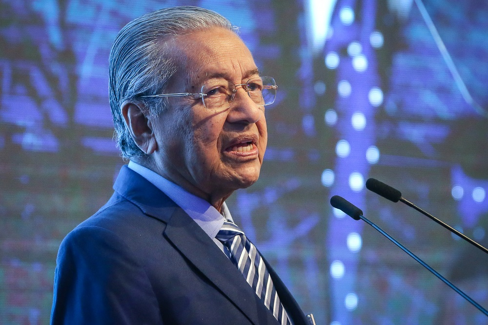 Prime Minister Tun Dr Mahathir Mohamad delivers his keynote address at the International Social Well-Being Conference 2019 in Kuala Lumpur November 21, 2019. — Picture by Yusof Mat Isa